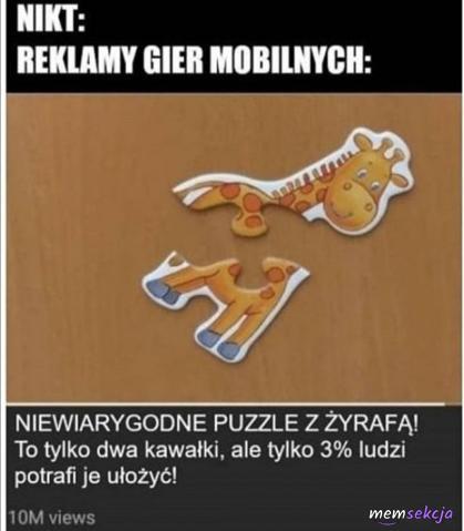 Niewiarygodne puzzle z żyrafą!
