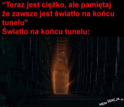 Balrog jako światło na końcu tunelu