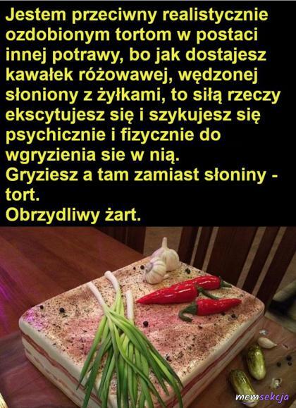 Tort zamiast słoniny