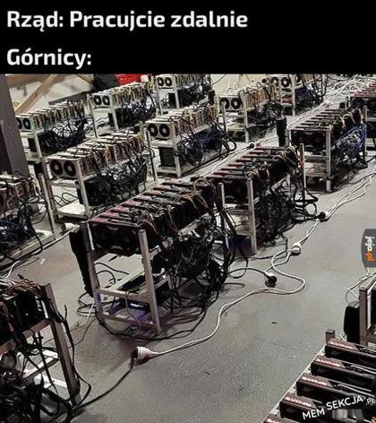 Górnicy kopiący bitcoiny