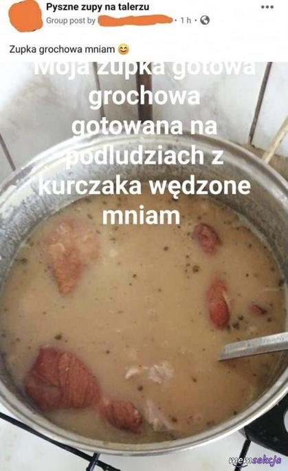 Zupka gotowana na podludziach