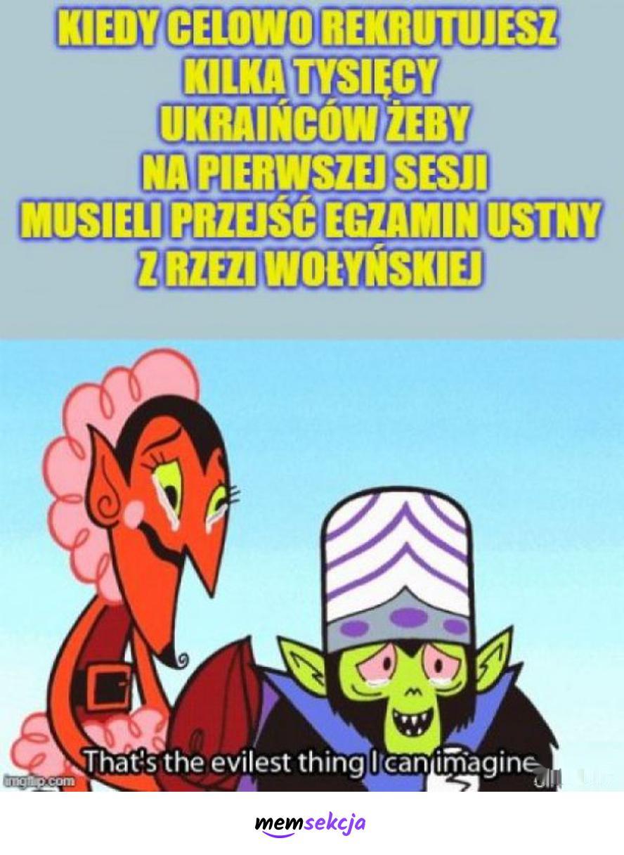Ukraińcy i egzamin ustny z rzezi wołyńskiej. Memy. Ukraina