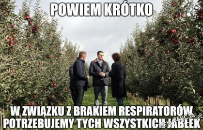 potrzebne nam są te jabłka, w zamian możemy dać respiratory