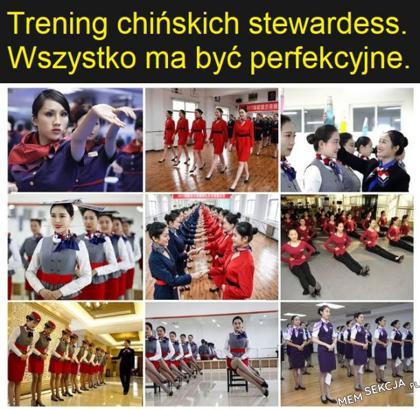 Trening chińskich stewardess