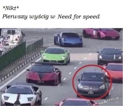Pierwszy wyścig w Need for Speed