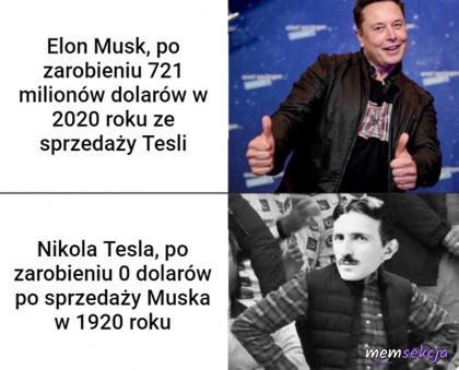 Ile zarobił Tesla na sprzedaży Muska?