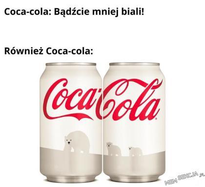 Coca cola każąca być mniej białym