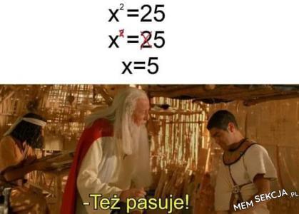 Zgadza się matematycznie