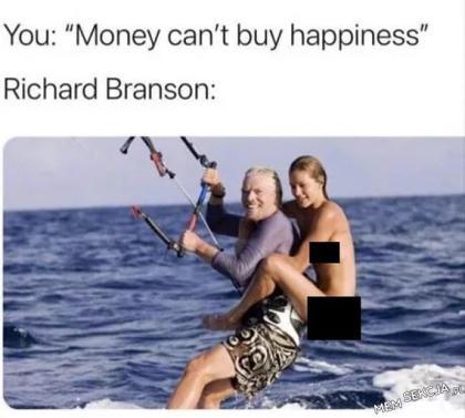 Richard Branson pokazuje, że można sobie kupić szczęście
