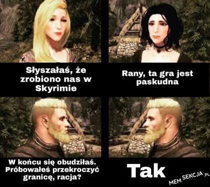 chłopaki i dziewczyny w Skyrim
