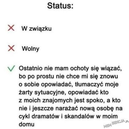 Jaki jest twój status?. Memy