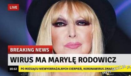 Koronawirus zmarł na Marylę Rodowicz