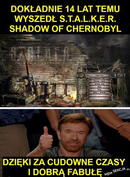 Dokładnie 14 lat temu wyszedł Stalker Shadow of Chernobyl
