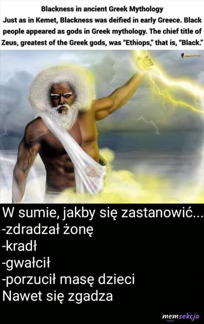 Zeus był czarny? W sumie ma to sens