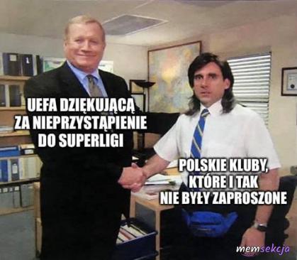UEFA dziękująca polskim klubom za nieprzystąpienie do superligi
