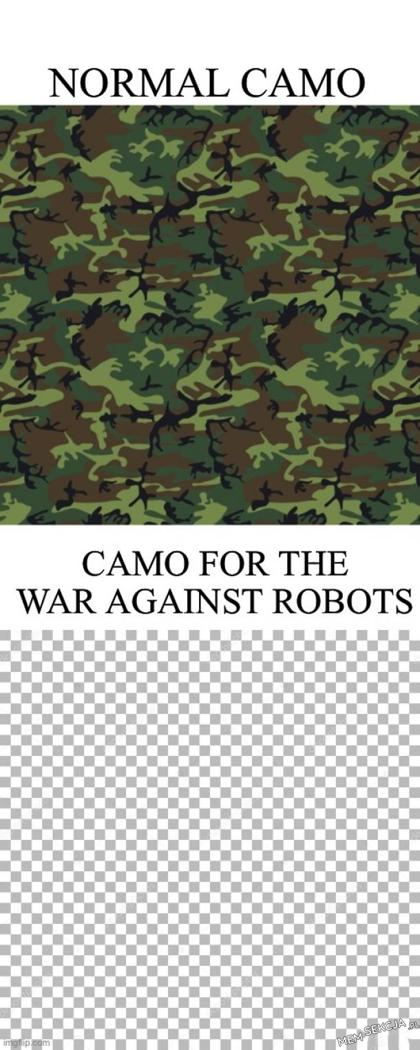 Camo for the war against robots