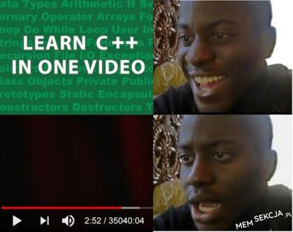 Nauka C++ w jednym filmiku