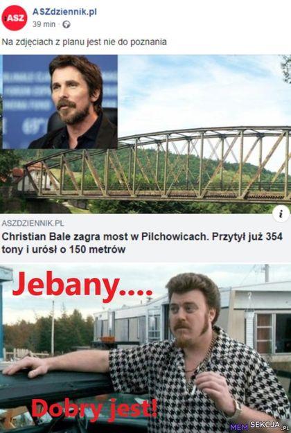 Christian bale zagra most w pilchowicach. przybył już 354