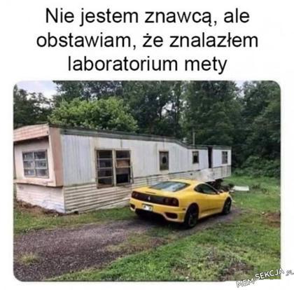Chyba znalazłem laboratorium mety