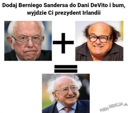 Dodaj Berniego Sandersa do DeVito