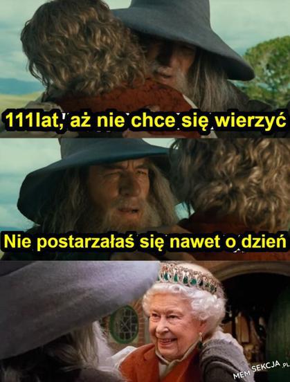 Gandalf i Elżbieta II