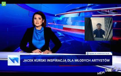 Jacek Kurski inspiracją dla młodych artystów. Śmieszne. Mata. Tvp