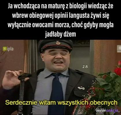 Ja wchodząc na maturę z biologi