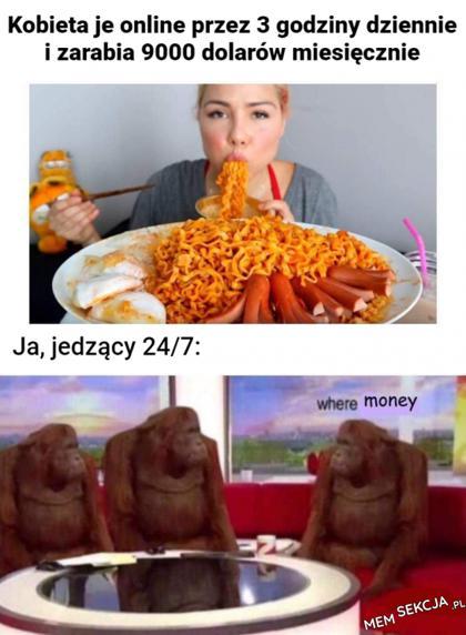Zarabianie za jedzenie