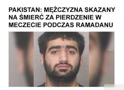 Mężczyzna skazany na śmierć za pierdzenie w meczecie podczas ramadanu