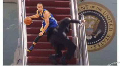 Koszykarz połamał na schodach kostki Bidenowi
