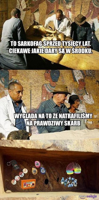 Takie dary w sarkofagu to prawdziwy skarb