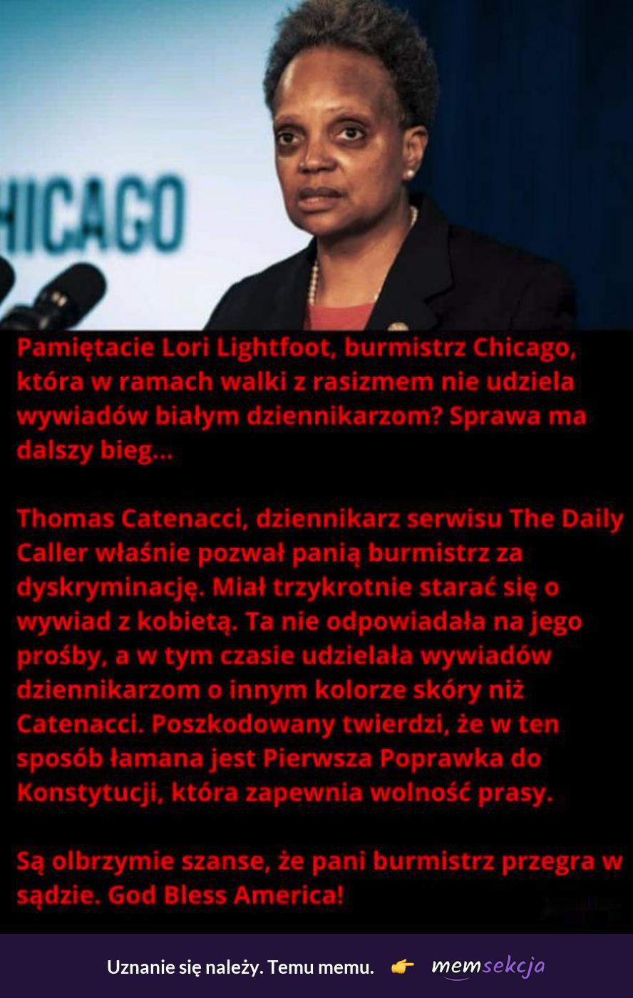 Rasistowska, czarna burmistrz Chicago. Memy polityczne. Usa. Murzynka