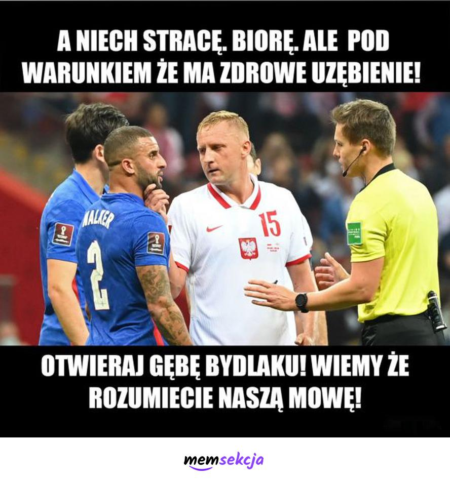 Kamil Glik kupuje Anglika. Memy. Kamil  Glik. Polska  Anglia. Reprezentacja. Piłka  Nożna