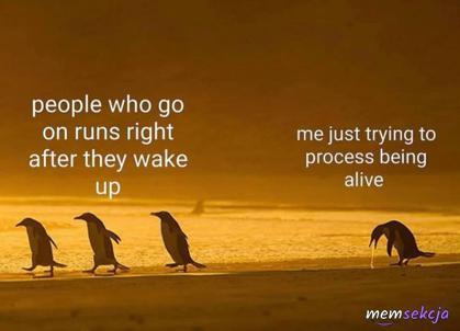 Ludzie, którzy biegają zaraz po przebudzeniu