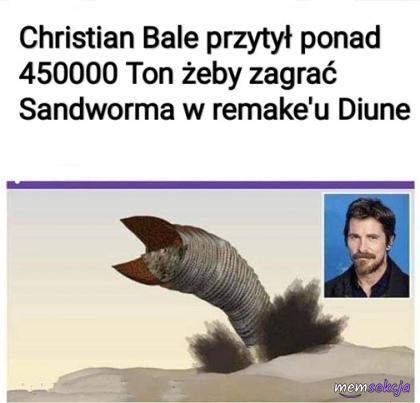 Christian bale przytył żeby grać wielkiego robala. Memy. Christian  Bale