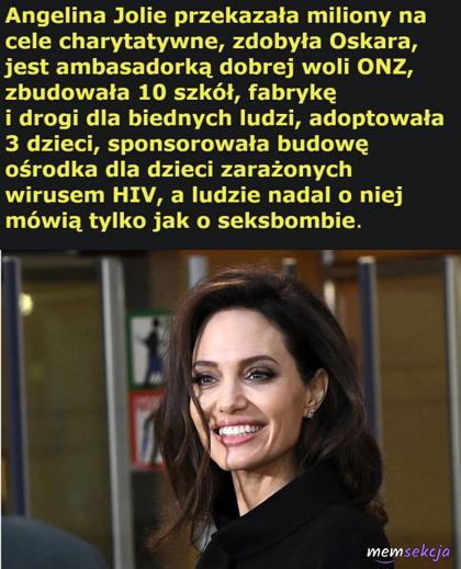 Inne poza urodą osiągnięcia Angeliny Jolie