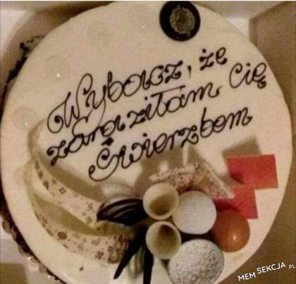 Przepiękny tort, jak tu nie wybaczyć?