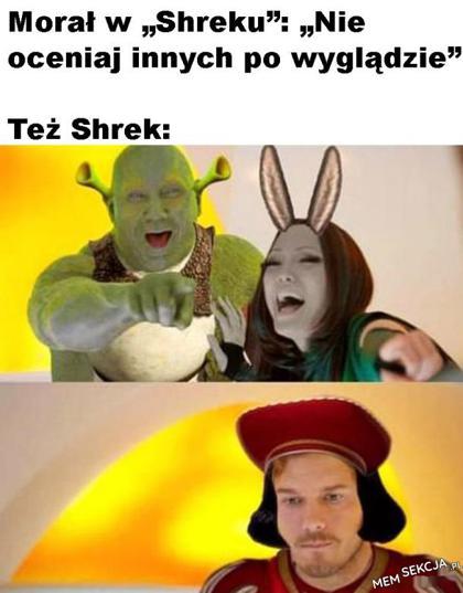 Shrek oceniał po wyglądzie
