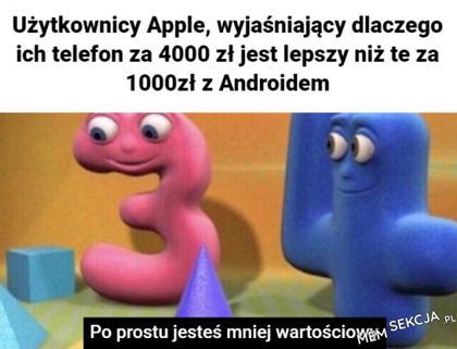 Użytkownicy apple, wyjaśniający dlaczego