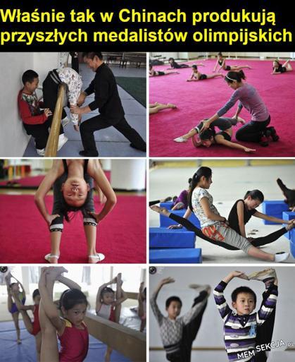 Tak w Chinach produkują przyszłych medalistów olimpijskich