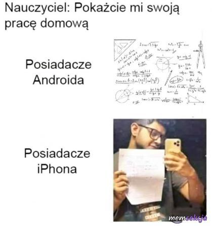 Jak pokazują swojąpracę domową posiadacze iPhone
