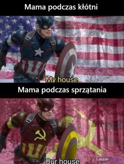 Mama podczas kłótni vs mama podczas sprzątania