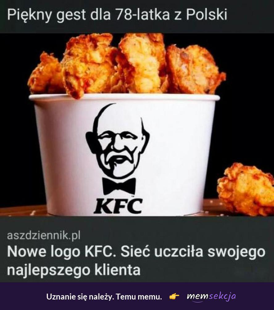 Nowe logo KFC - Korwin Fried Chicken. Śmieszne. Kfc