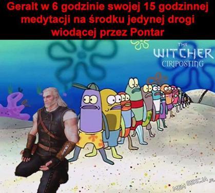 Geralt w 6 godzinie swojej medytacji