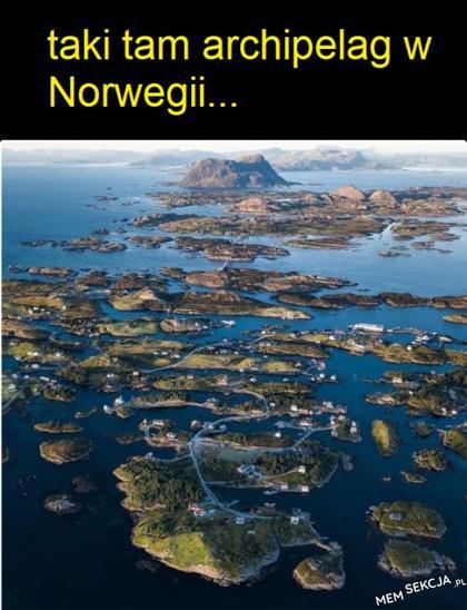 Taki tam archipelag w Norwegii
