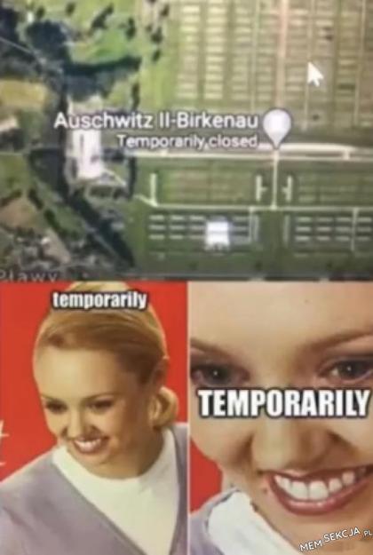 Auschitz chwilowo zamknięte?