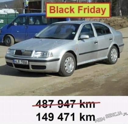 Przebieg samochodu w komisie w czarny piątek