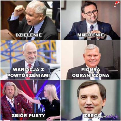 Matematyka w PiS. Śmieszne. Jarosław  Kaczyński. Daniel  Obajtek. Marek  Suski. Antoni  Macierewicz. Zbigniew  Ziobro