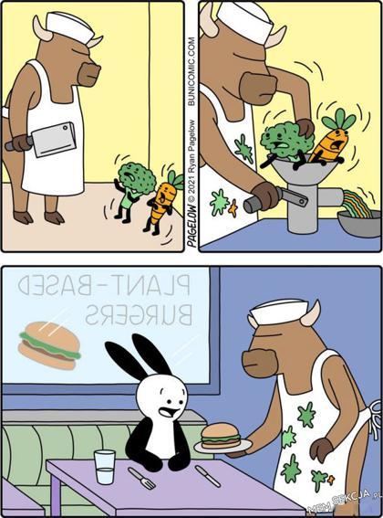 Wegańskie jedzenie za kulisami