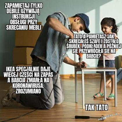 Kiedy składasz z tatą meble z Ikea